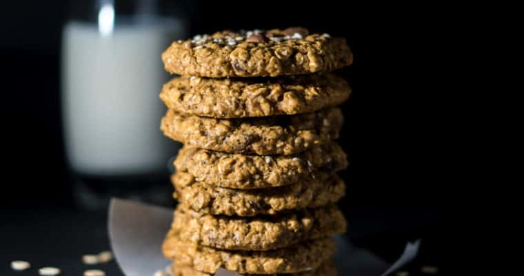 Butter Oat Snap Cookies