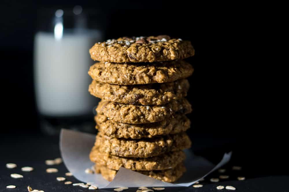 Butter Oat Snap Cookies