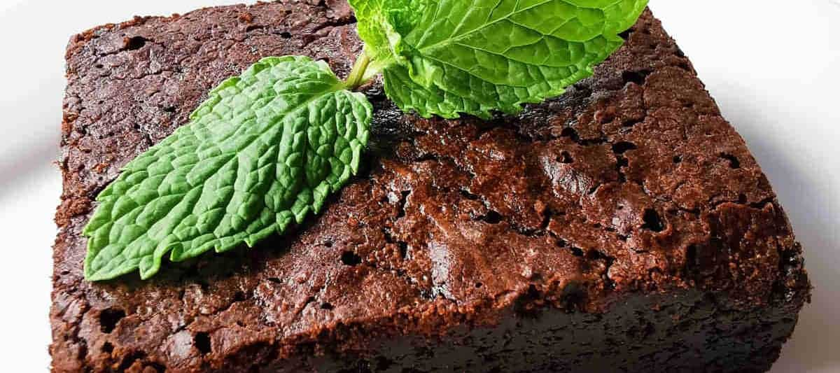 chocolate brownie ready to serve