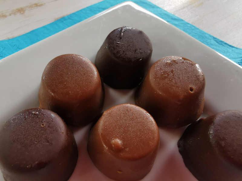 homemade chocolate on a plate