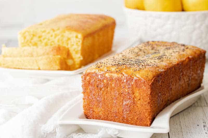 lemon cake on a table
