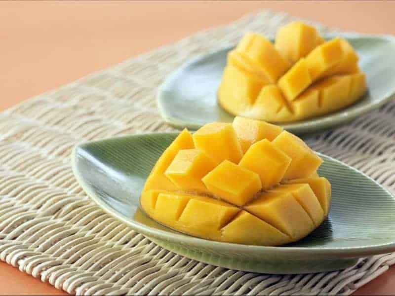 mango ready for stuffing