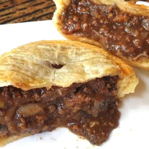 meat pie cooked and ready to serve