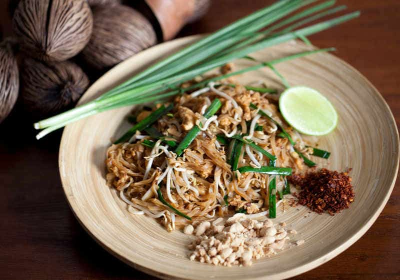 pad thai on a plate