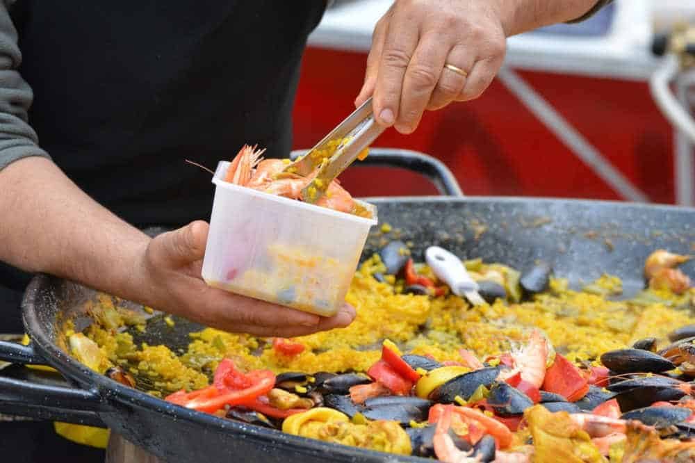 paella ready to serve
