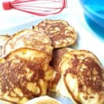 cooked pikelets on a plate
