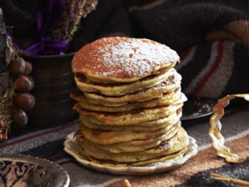 ricotta hotcakes in a pile