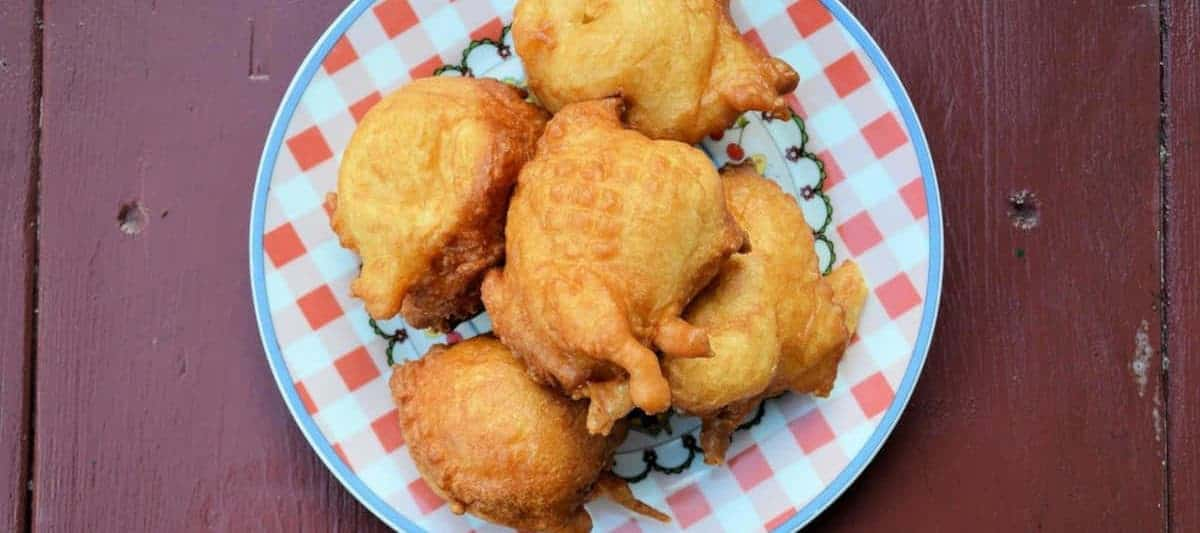 fritters served on a plate