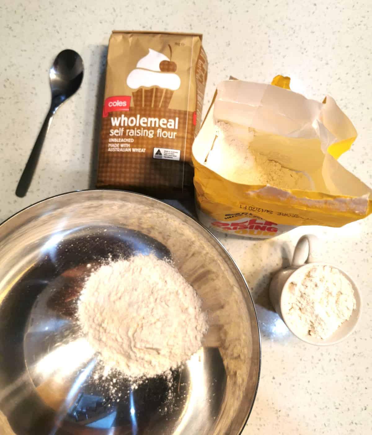 ingredients for pancake ready to make